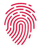 Fingerabdruck-Symbol in rot